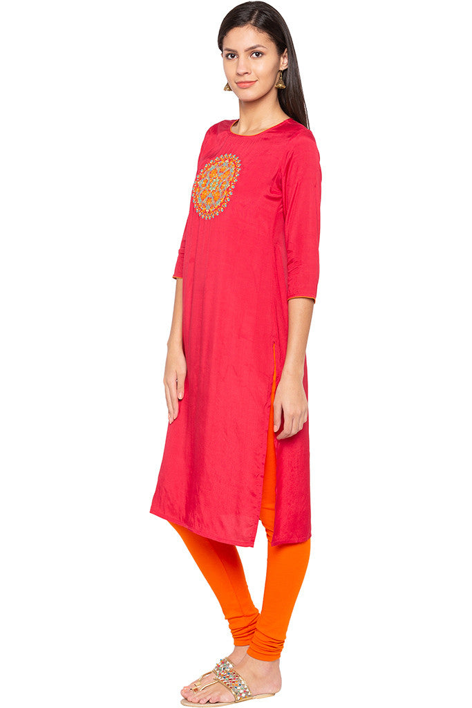 Embroidered Ethnic Kurta-4