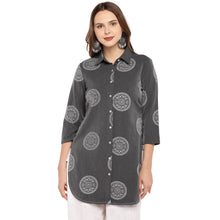 Load image into Gallery viewer, Women Grey Printed Tunic-1