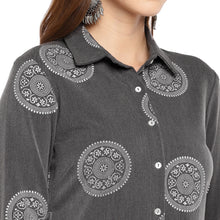 Load image into Gallery viewer, Women Grey Printed Tunic-5
