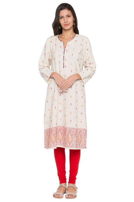 Floral Embroidery Kurta-1