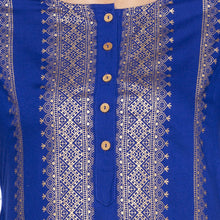 Load image into Gallery viewer, Ethnic Blue Color Straight Printed Regular Kurtas-5