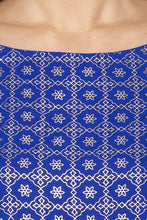 Load image into Gallery viewer, Printed Boat Necked Blue Kurta-5