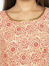 Load image into Gallery viewer, Printed Beige A-Line Kurtas-5