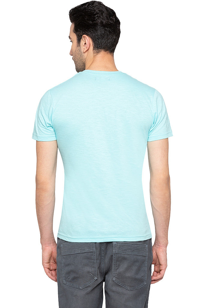 V-neck Solid Slub T-shirt-3