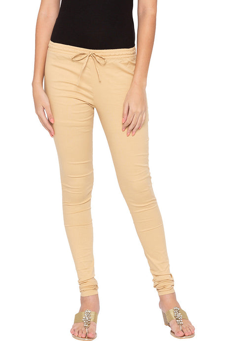 Stretch Beige Churidar-1