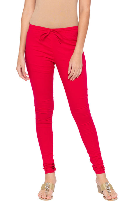 Stretch Fuchsia Churidar-1