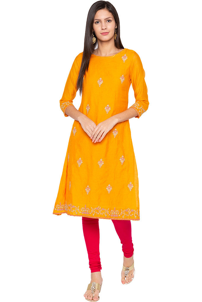 Stretch Fuchsia Churidar-2