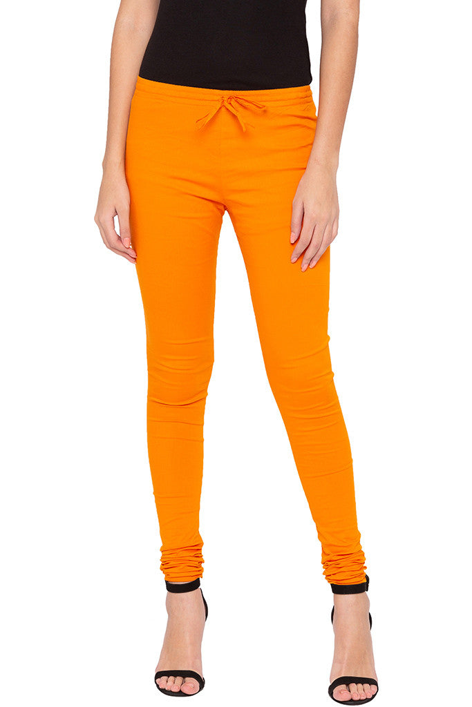 Stretch Orange Churidar-1