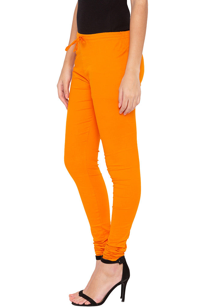 Stretch Orange Churidar-4