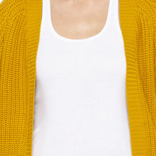 Load image into Gallery viewer, Mustard Color Solid Regular Fit Shrug-5