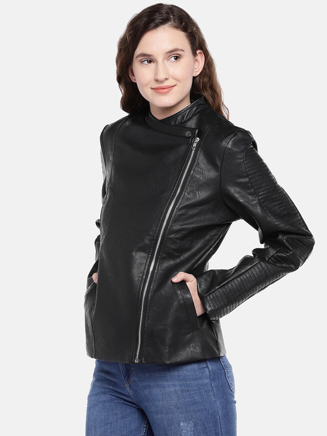 Black Solid Jacket-2