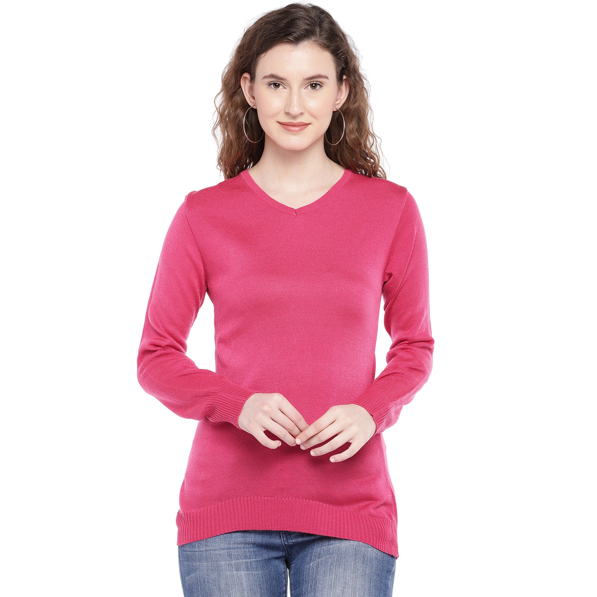 Pink Self Design Top-1