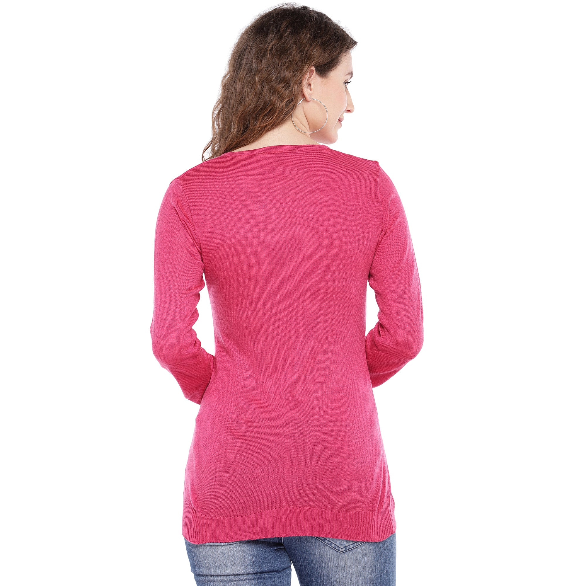 Pink Self Design Top-3