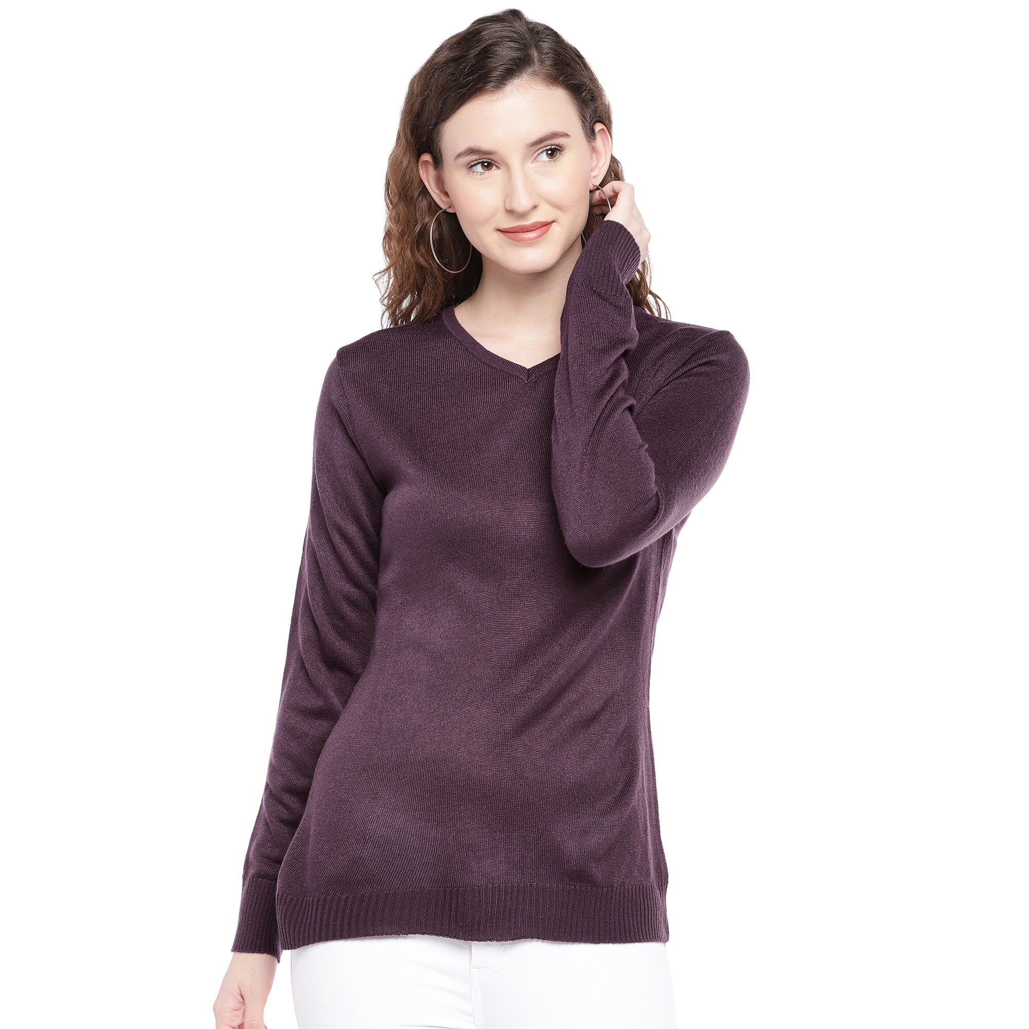 Burgundy Solid Top-1