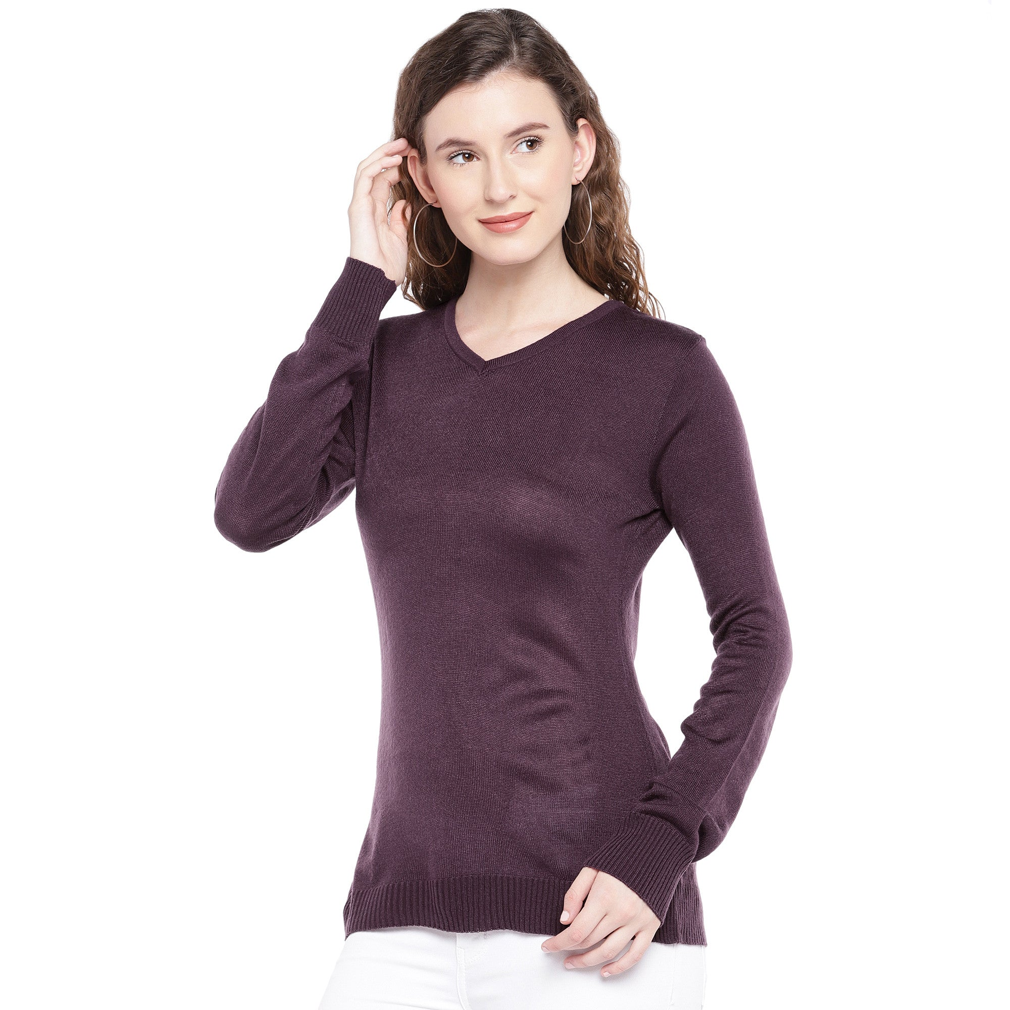 Burgundy Solid Top-2