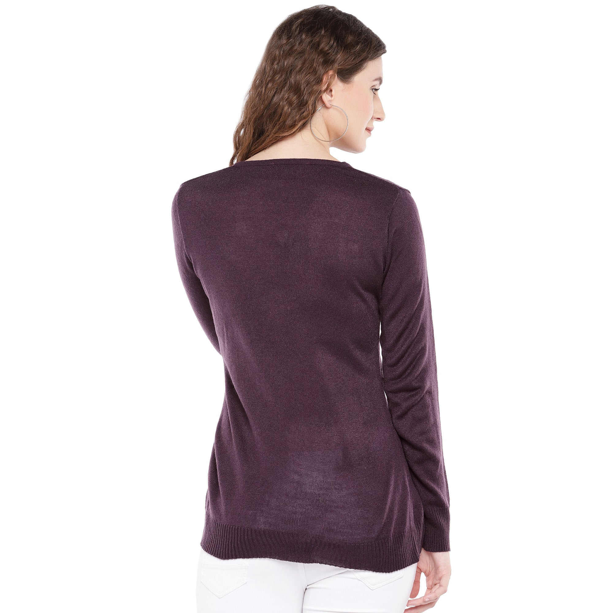 Burgundy Solid Top-3