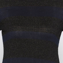 Load image into Gallery viewer, Casual Navy Blue Color Solid Slim Fit Tops-5