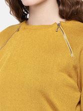 Load image into Gallery viewer, Women Mustard Yellow Solid Top-5