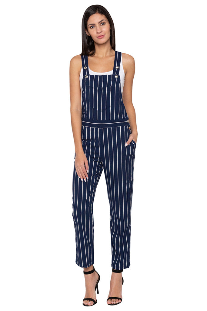 Striped Dungaree-1