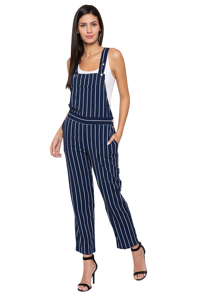 Striped Dungaree-2