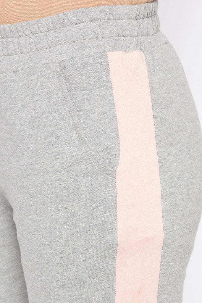 Side Band Knit Joggers-5