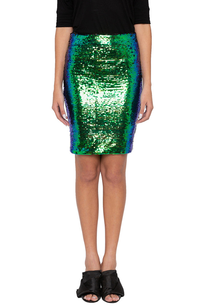 Sequined Pencil Party Skirt-1