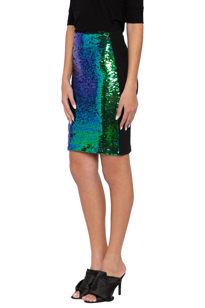 Sequined Pencil Party Skirt-4