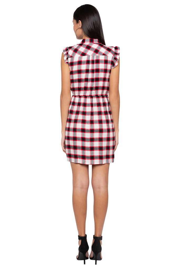 Checked Short Dress-3