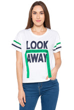 Load image into Gallery viewer, White Conversational Print Tassel Top-1