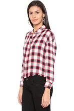 Load image into Gallery viewer, Raw Edge Checked Shirt-4