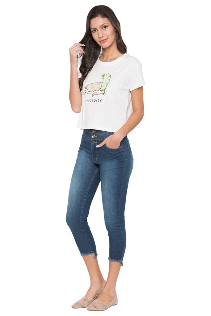 Graphic Print Boxy Fit T-shirt-2