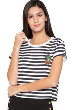 Load image into Gallery viewer, Striped Boxy T-shirt-1