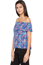 Load image into Gallery viewer, Layered Off Shoulder Floral Print Top-4