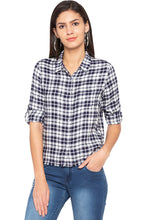 Load image into Gallery viewer, Raw Edge Checked Shirt-1