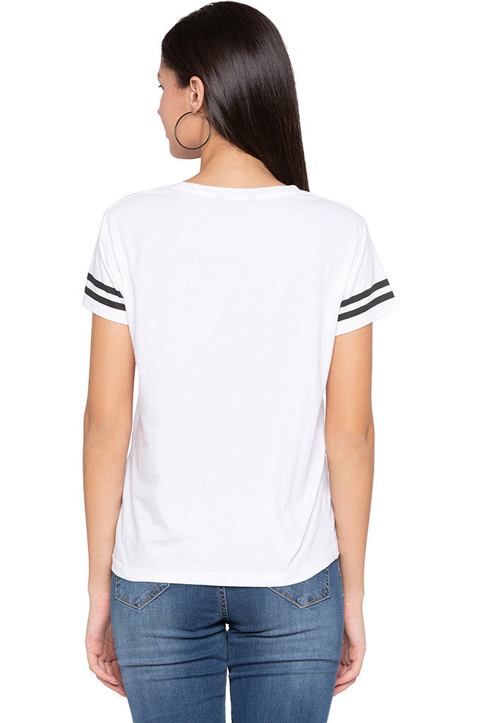 Printed Front White T-shirt-3