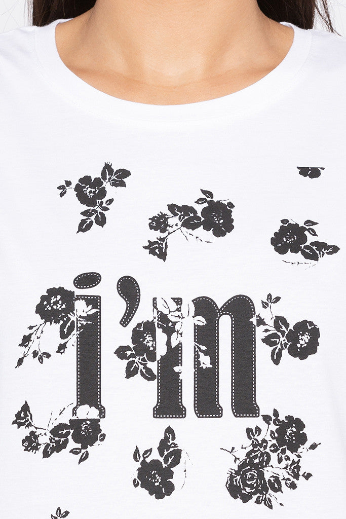 Printed Front White T-shirt-5
