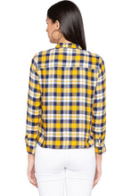 Load image into Gallery viewer, Embroidered Yoke Checked Shirt-3