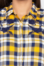 Load image into Gallery viewer, Embroidered Yoke Checked Shirt-5
