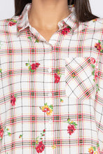 Load image into Gallery viewer, Checked Floral Print Shirt-5