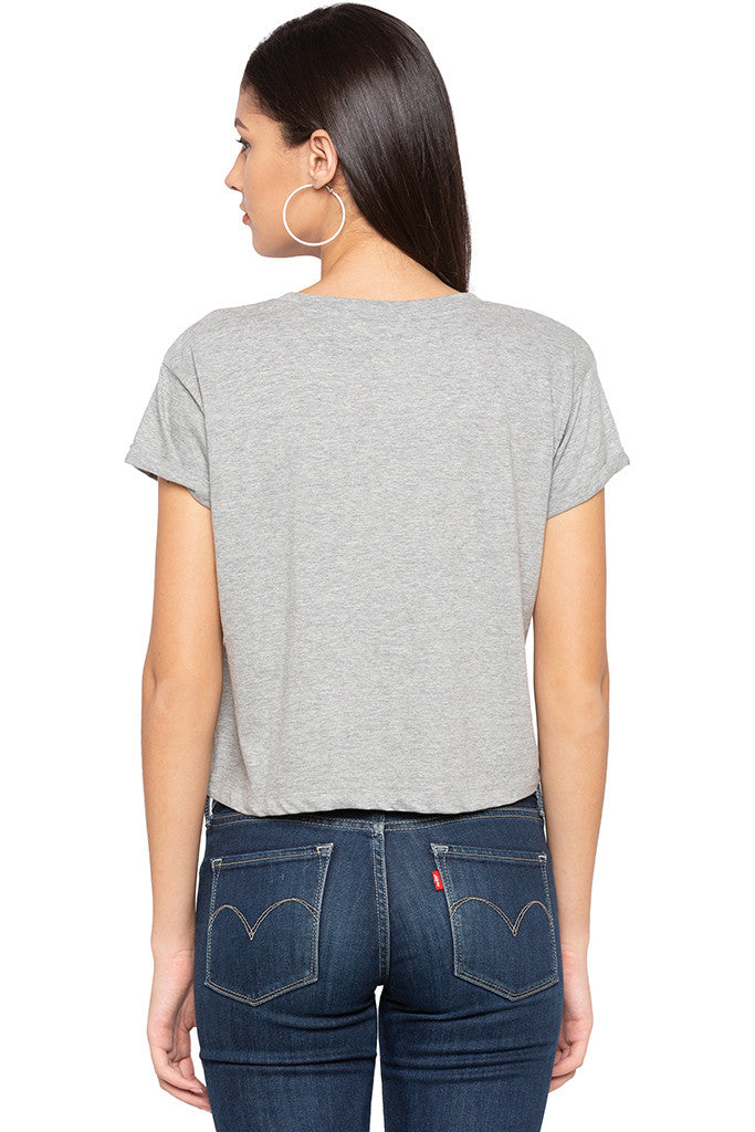 Printed Cropped T-shirt-3