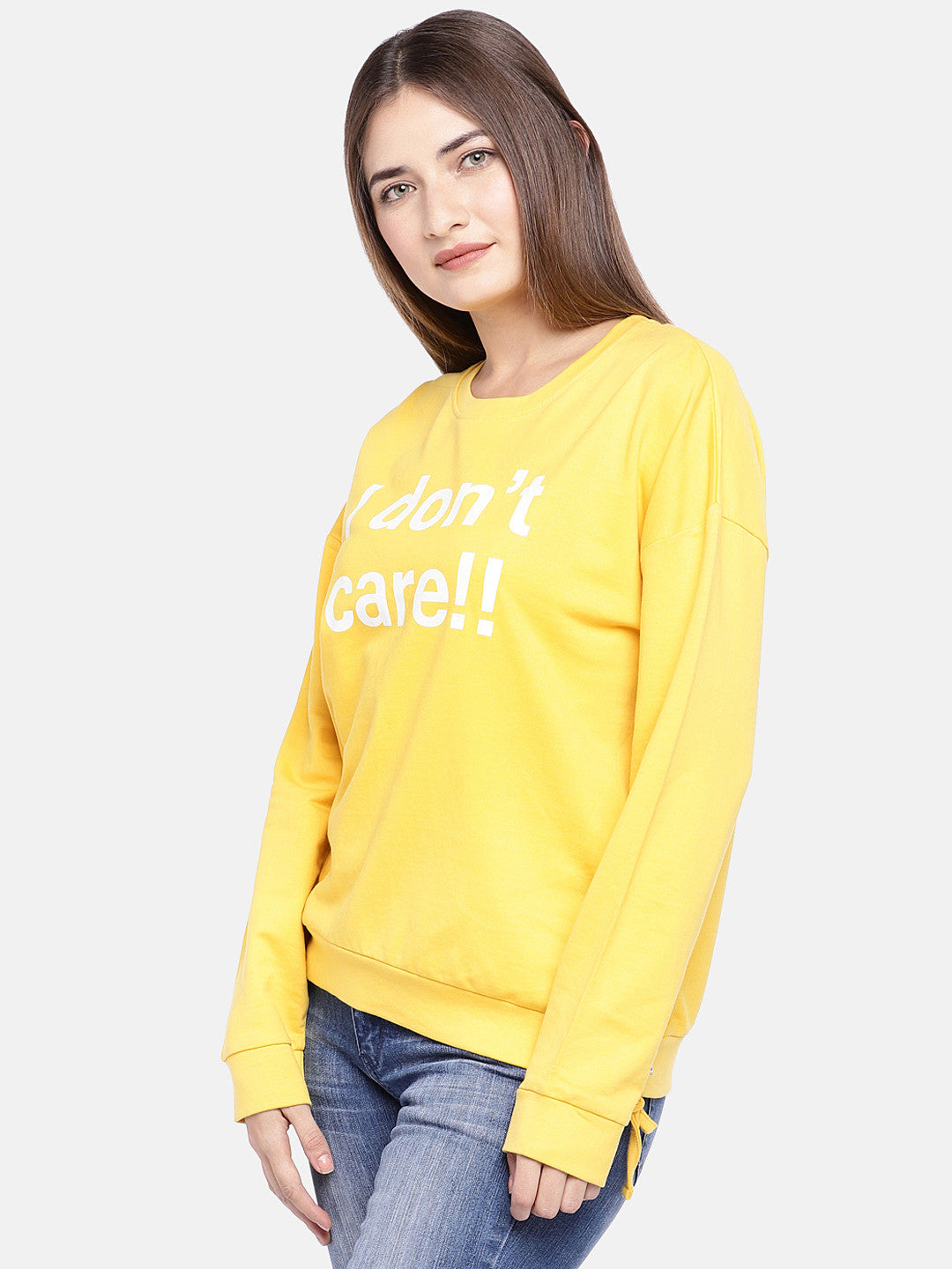 Yellow Printed Sweatshirt-2