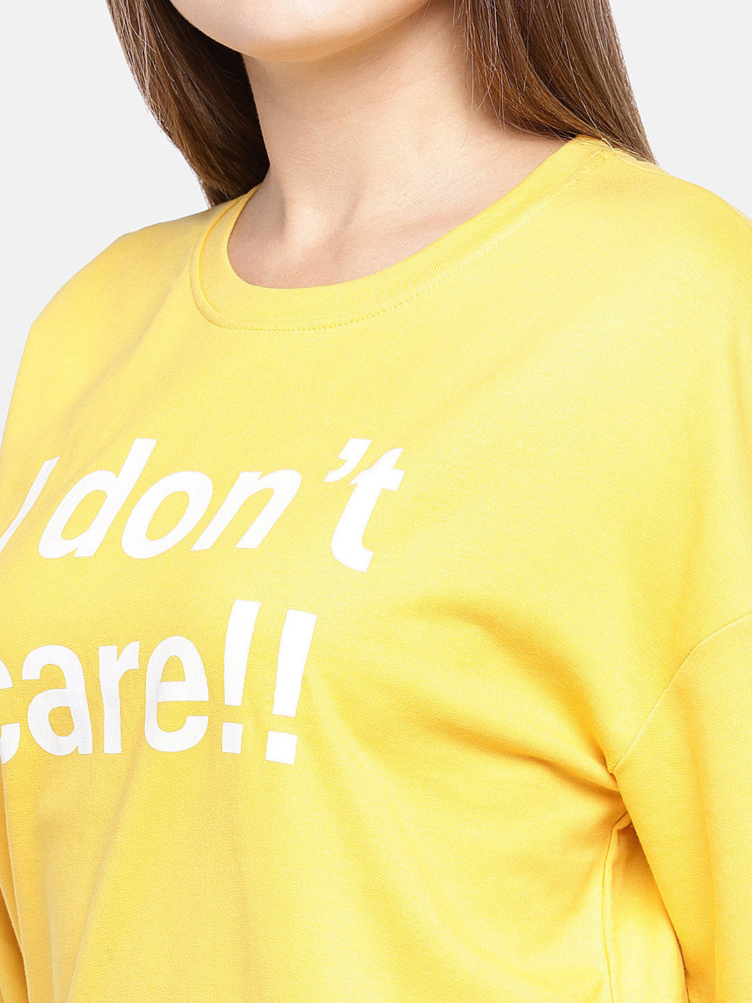 Yellow Printed Sweatshirt-5