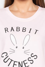 Load image into Gallery viewer, Pink Rabbit Print T-shirt-5