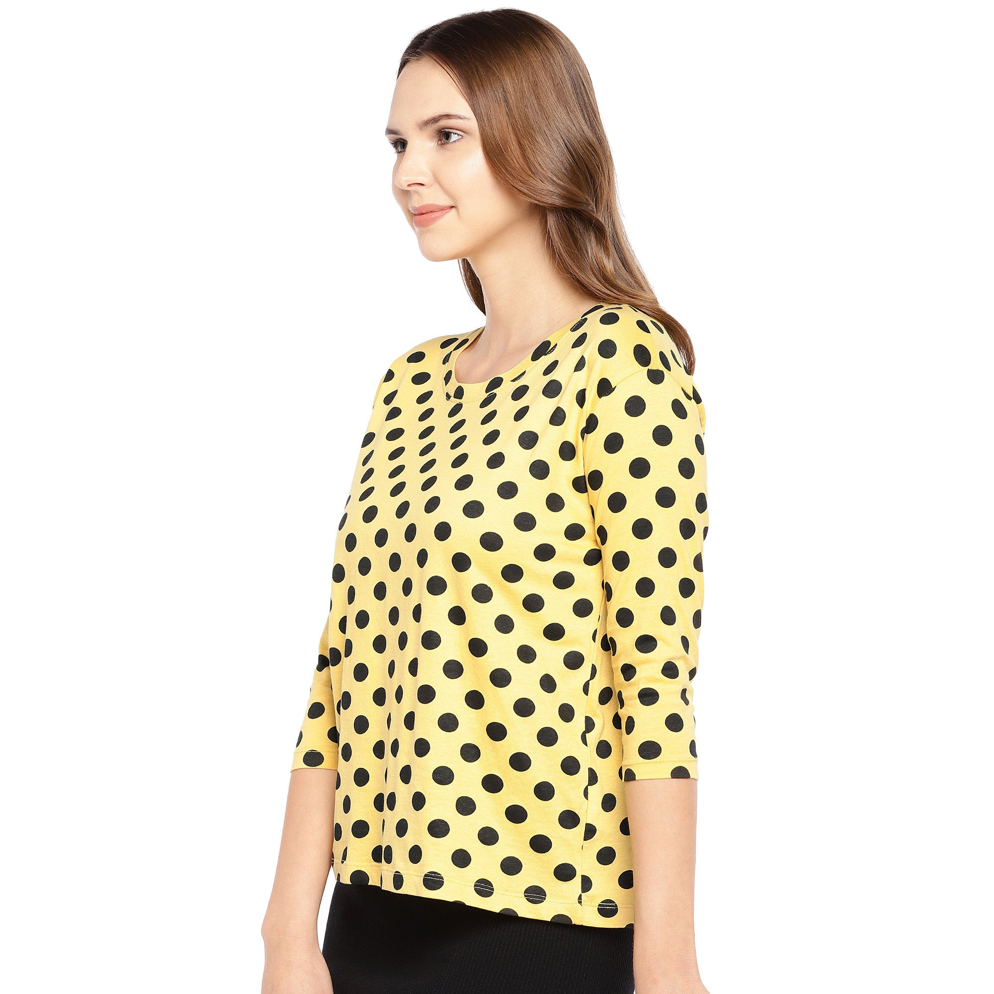 Yellow Printed Top-2