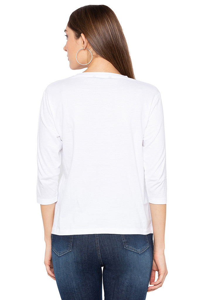 Cheeky One-liner White T-shirt-3