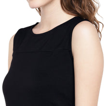 Load image into Gallery viewer, Women Black Solid A-Line Dress-5