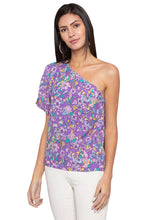 Load image into Gallery viewer, Single Shoulder Floral Blouson Top-4