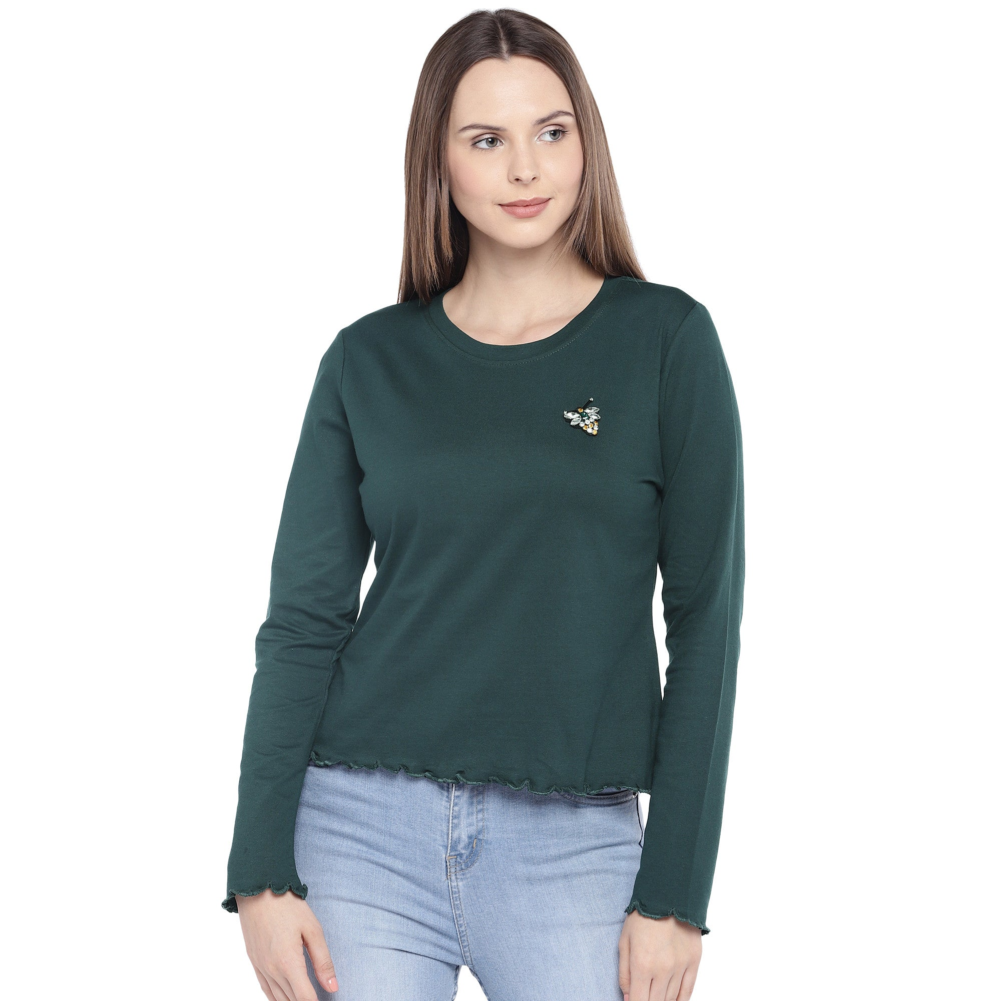 Green Solid Top-1