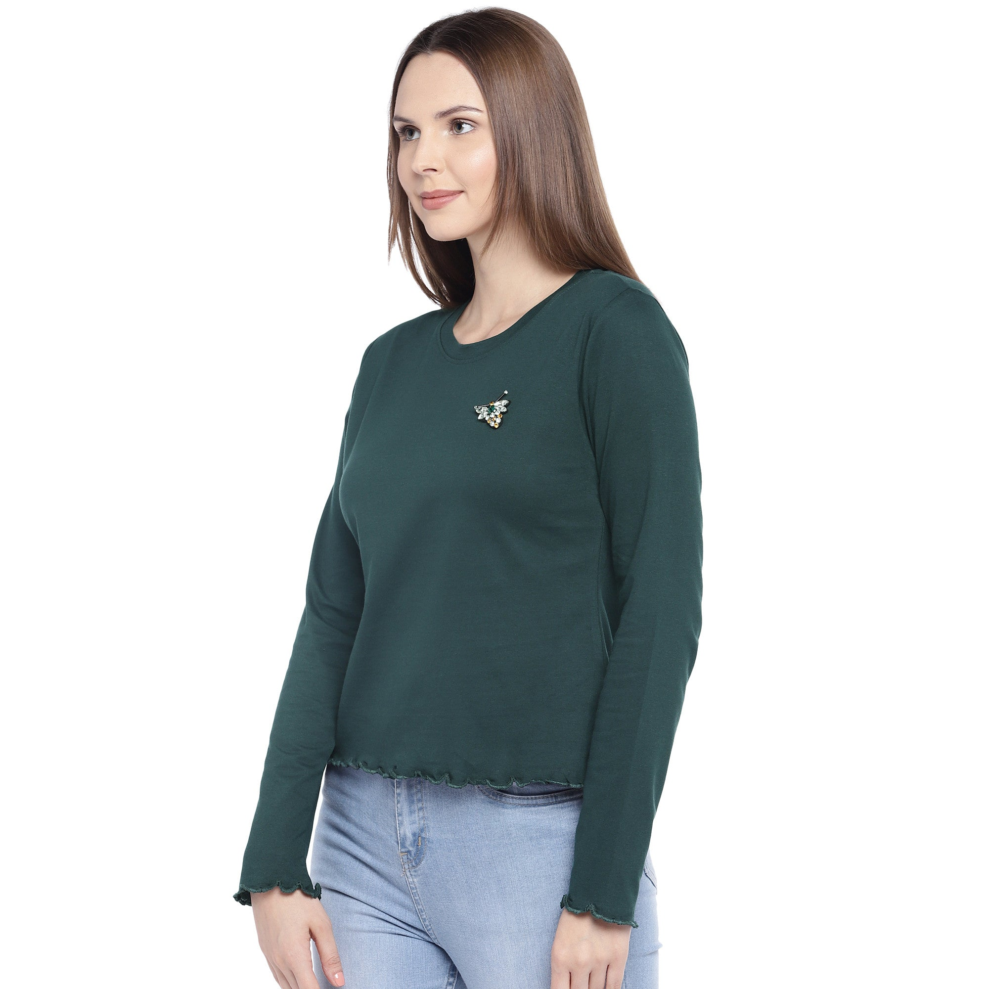 Green Solid Top-2