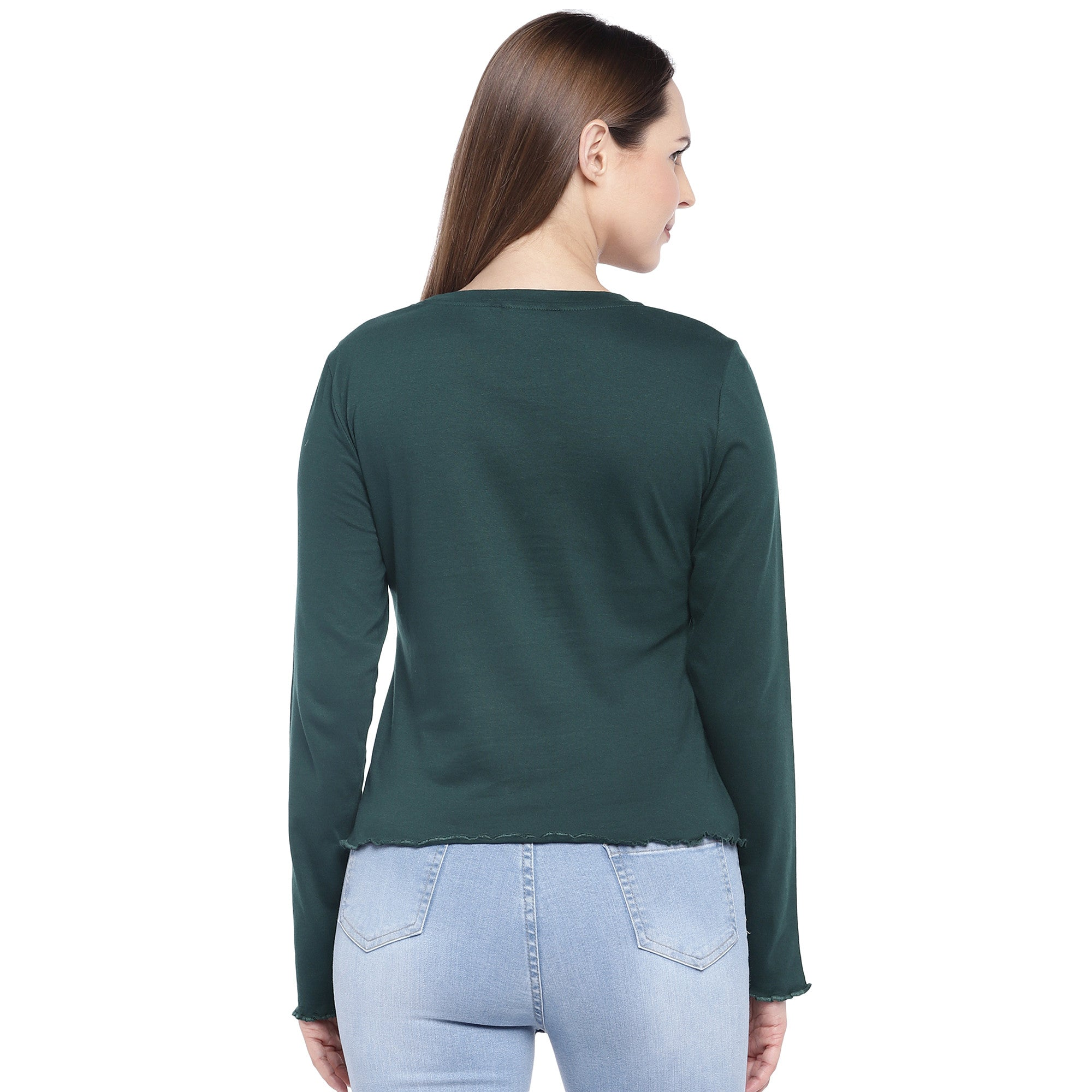 Green Solid Top-3